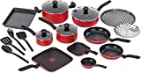 T-fal Simply 20 Piece Cook Set - Red