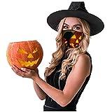 UINGKID Multifunktionstuch Staubmaske Mund Schlauchtuch 3 Stück Halloween Drucken UV-Schutz Bandana...