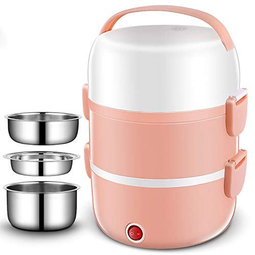DAQIAO Electric Lunch Box Portable Lunch Containers Warming Bento 220V School/Office Use Heated Lunch Box, Easy to Use and Easy to Clean