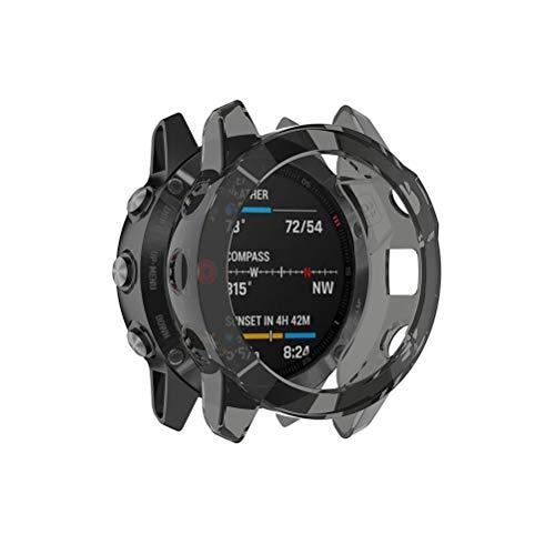 Suszian Uhrenschutz, 49,2 mm Displayschutzhülle, durchsichtige Schutzhülle Weiche TPU-Schutzhülle für Garmin fenix6 Anti-Scratch-Hülle
