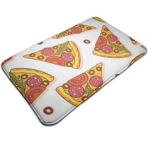 SESILY Pizza Print Türmatte Badematte Eingangsmatte Bodenmatte Teppich Innen- / Vordertür/Badematten 40X60CM
