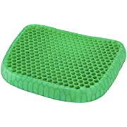 Gel Seat Cushion with Gel for Back Pain, Tailbone, Coccyx & Sciatica Relief - Lightweight & Portable - Home, Office & Car Use