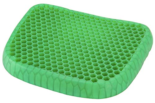 Var Tamaz Green Gel Seat Cushion with Gel for Back Pain, Tailbone, Coccyx & Sciatica Relief - Lightweight & Portable - Home, Office & Car Use