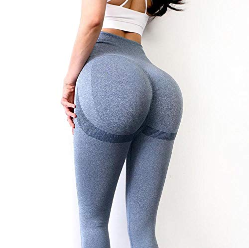 LYWZX Leggings De Yoga para Mujeres Women Yoga Pants High Waist Sports Leggings Long Fitness Tights Push Up Energy Running Trousers Workout Butt Tummy Control-D_L