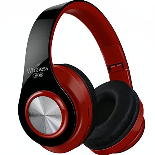 Auriculares inalámbricos Bluetooth Auriculares estéreo plegables Auriculares para juegos Soporte TF Tarjeta con micrófono Para PC Todo el teléfono Mp3 (rojo)