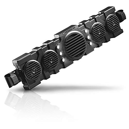 BOSS Audio Systems BRRF40A 40 Inch ATV UTV Audio System - IPX5 Rated Weatherproof, 8 Inch Woofer, 5.25 Inch Speakers, Amplified, Bluetooth, Built-in LED Lights, Easy Installation for 12 Volt Vehicles