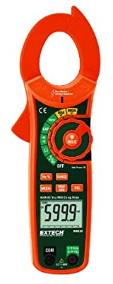 Extech True RMS AC 600A Clamp Meter with Non-Contact Voltage Detector
