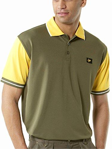 Pan World Brands Ltd Polo Tekno Dunlop Verde/Giallo e Grigio/Arancio (Grigio/Arancio, L)