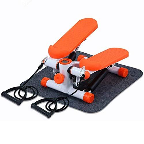 DPPAN 2in1 Twister Stepper, Fitness Mini Stepper Mit Power Ropes Mit Multifunktions-Display für Zuhause und Büro, für Frauen und Männer,Orange