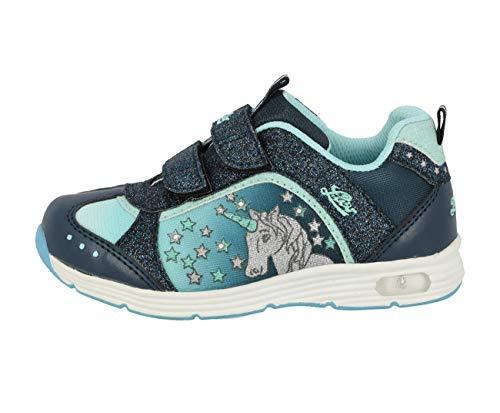 Lico Unicorn V Blinky Mädchen Sneaker, Marine/ Türkis, 27 EU
