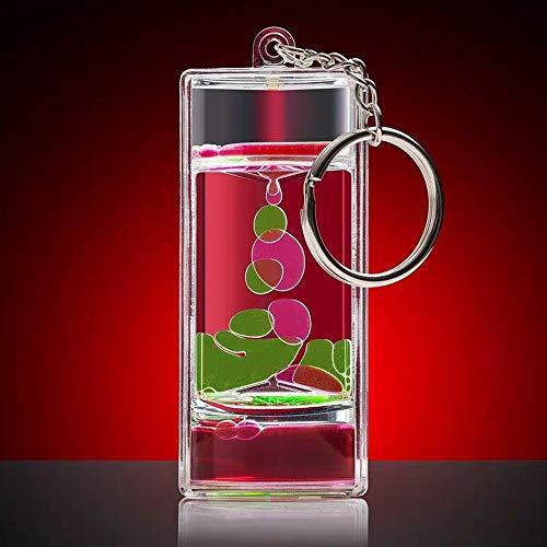 Liquid Motion Timer Bubbler Sensory Play Keychain Fun Fidget Key Ring Relaxing Bubble Motion Autism ADHD Fidget Toy