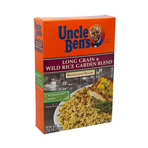 Rice Uncle Bens Long Grain &Wld Garden 6 Case 36 Ounce