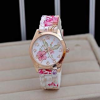 Orologi Da Donna Moda orologio per le donne Girl Watch Silicone Stampato Flower Causal Quarzo Orologio da polso orologio o...