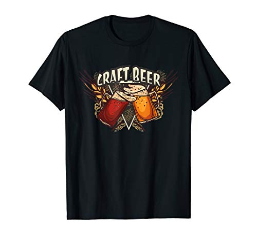 Craft Beer | Kraft Bier mit Biergläsern T-Shirt