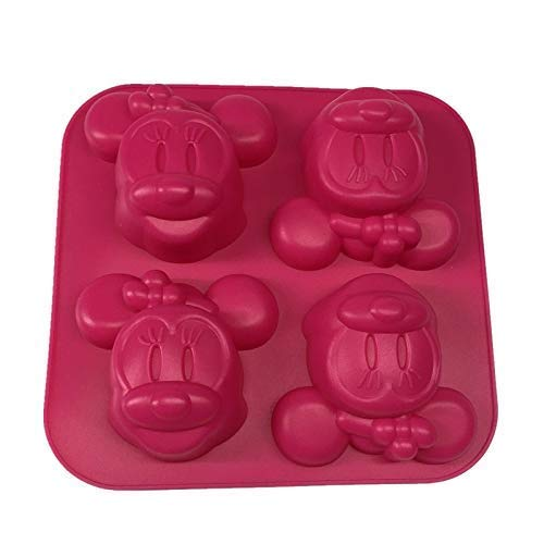 TGSEA Hello Kitty 4 Löcher Form Micky Maus Kuchenform viele Formen DIY Silikon Form mit zwei Arten von Expression Pudding Schokolade Kuchen Gelee Form, 7