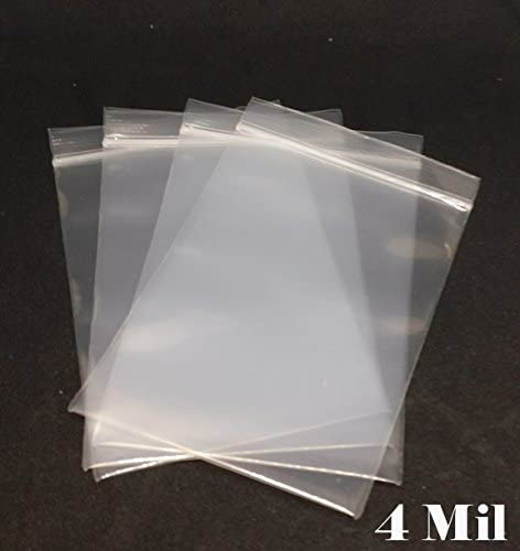 4 Mil Ziplock Bags with White Block 9 x 12 Baggies Clear Plastic Storage Bags for Shipping Pack of 1000