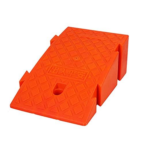 Rampas De Goma para Coche Rampas para Motos Rampas De Bordillo De Goma Portátiles Rampa Silla De Ruedas (Color : Orange, Size : B:25x45x19CM)
