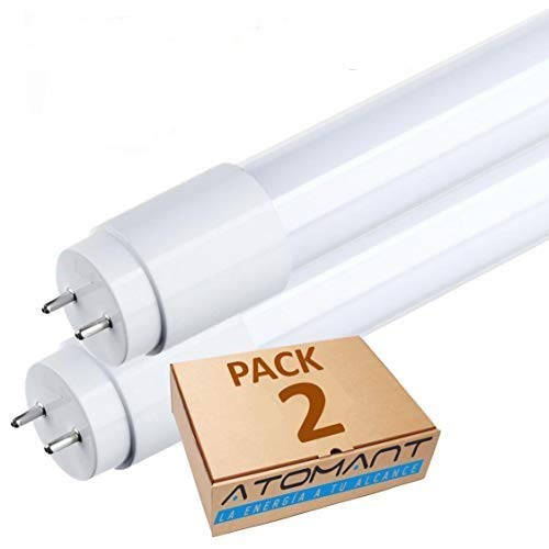 Pack de 2 Tubos de LED T8. 120 cm. 18w. Color Blanco neutro