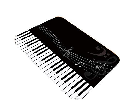 ADLFJGL tapijt woonkamer tapijt 3D digitale afdrukken vloermat zwart en wit piano sleutel patroon vloer mat deurmatten