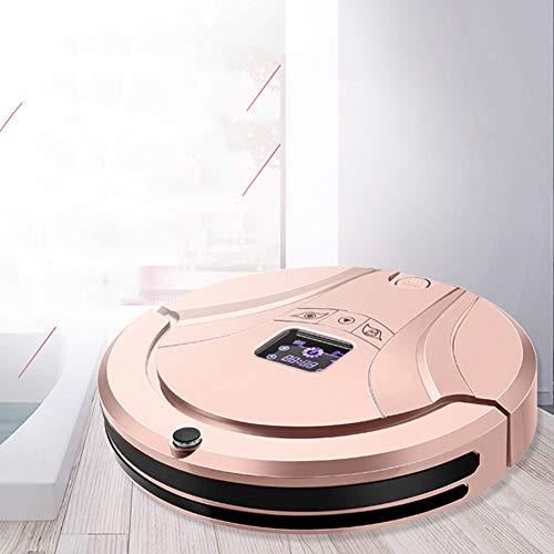 LG Snow Robot aspiradora, máquina de Barrido de Carga Inteligente del hogar, planificación automática de rutas, inducción automática, Super succión Tres en uno (Color : Pink)