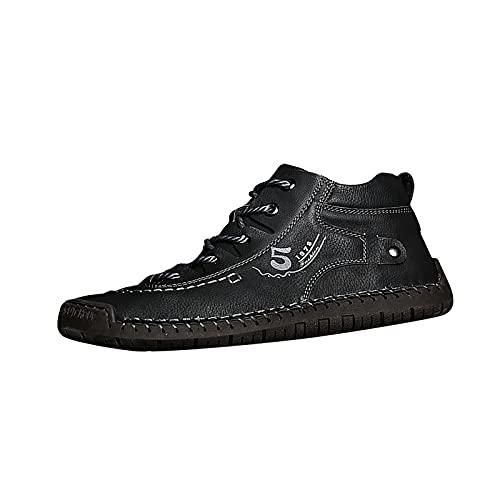 Arbeitsschuhe für Herren Steel Toe Laufschuhe Breite Leder Sneakers Fashion Dress Sneaker Business Freizeitschuhe für Herren