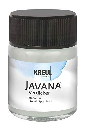Kreul 8134 - Javana Verdicker im 50 ml Glas, verhindert das Fließen der Seidenmalfarben auch auf ungrundierter Seide