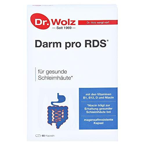 Darm pro RDS Reizdarm Dr. Wolz | Präparat zur Anwendung bei Reizdarmbeschwerden | 60 magensaftresistente Kapseln