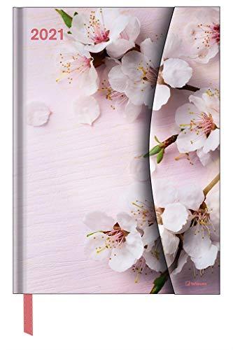 Flowers 2021 - Diary - Buchkalender - Taschenkalender - 16x22: Magneto Diary