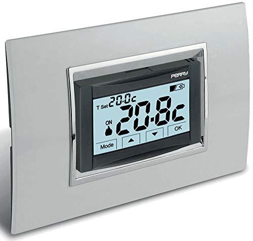 Perry 1TITE543 - Termostato digitale 230v da incasso touch screen MOON SOFT TOUCH