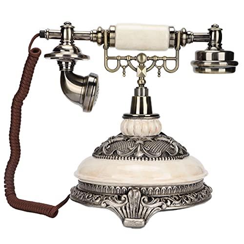 Inicio Teléfono Fijo Retro, Teléfono Fijo Retro Vintage Con Dial Giratorio, Teléfono Fijo De Imitación De Piedra De Estilo Vintage, Teléfono Antiguo Con Adorno De Escritorio Para El Hogar Y La Oficina