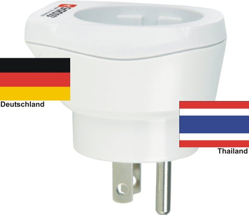 hoogwaardige design reisadapter Duitsland naar Thailand 220-230V veiligheidsstekker omzettingsstekker reisstekker netstekker - Duitsland - Thailand