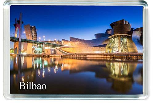 DreamGirl H269 Bilbao Imán para Nevera Spain Travel Fridge Magnet