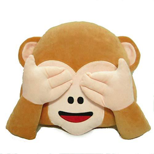 Pillow Cuscino Cuscino Peluche per Bambini Cuscino Carino Scimmia Emoji Cuscino Divertente Cuscino Emoji