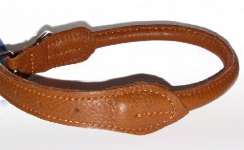 Nobby Halsband Elchleder rund braun 50 cm (40-46 cm); Ø 10 mm