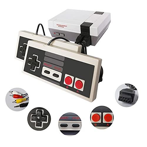 Consola Juegos Retro NES Classic Mini Game NES con 620 Juegos Incorporados, AV Salida TV Videojuegos con 2 NES Mini Clasicos Juegos Gamepad, Juegos Contra Aburres Interactivos Entre Amigos Niños