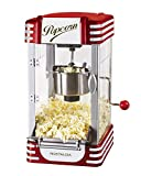 Nostalgia RKP730 Retro 2.5-Ounce Tabletop Kettle Maker, Makes 10 Popcorn, With Kernel Cup, Oil Measuring Spoon and Scoop, Perfect for Birthday Parties, Movie Nights, Red