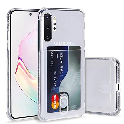 DiiliHiiri Funda Transparente con Tarjetero Compatible con Samsung A50 A50s A30s, Funda de Silicona TPU de Alta Resistencia y Flexibilidad, Carcasa con Ranura para Tarjeta