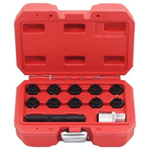 vidaXL Felgenschloss Set 12-TLG. Mercedes Radbolzen Knacker Demontage Werkzeug