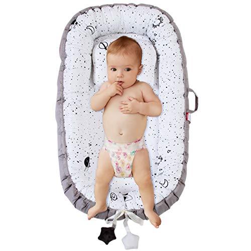 DaMohony Transat pour bébé portable de voyage pour nouveau-né - Matelas amovible pour bébé de 0 à 2 ans