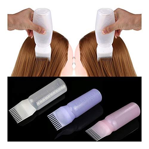 KYT-ma 17 * 4.5cm Bouteille Dye Hair Salon applicateur Brosse Dispensing Coloration Dyeing Cadeau for Les Filles 120ML