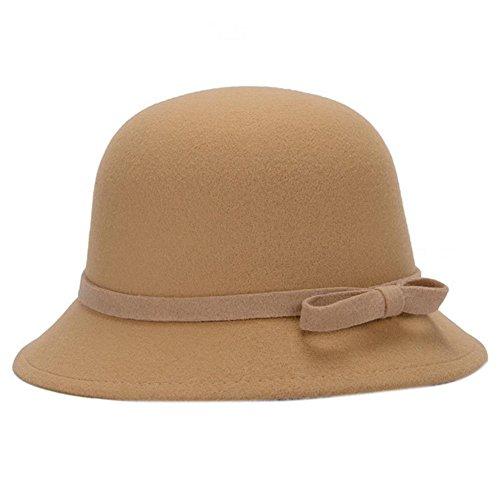 Leisial™ Sombrero del Elegante con Arco Algodón Más Caliente Casual Gorro Retro Invierno Otoño para Mujer