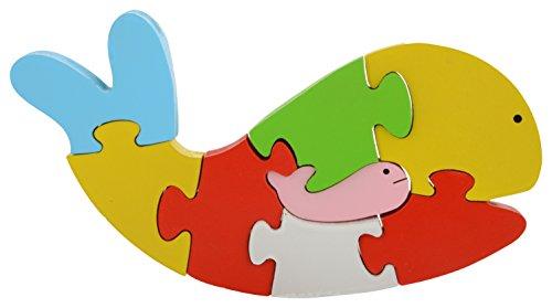 Skillofun Wooden Take Apart Puzzle Whale, Multi Color