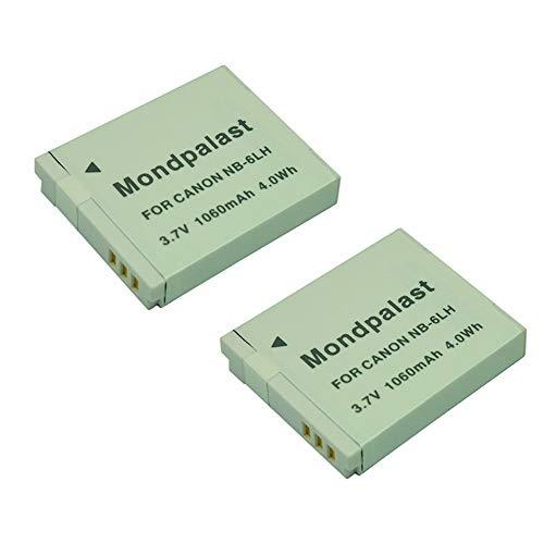 Mondpalast ® Batteria NB-6LH NB6LH x 2 1060mah per Canon SX510 HS SX600 HS SX700 HS Powershot S90 S95 S120 SD770 IS SX280 HS SD4000