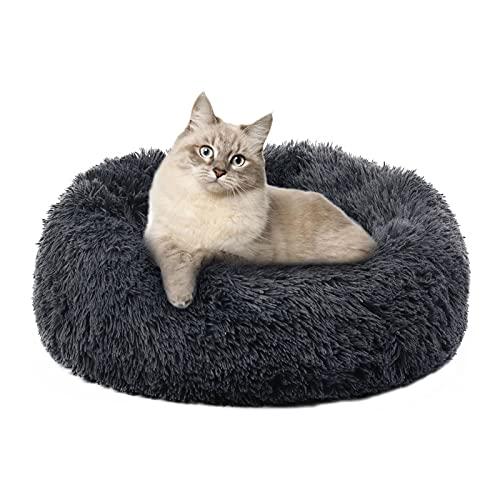 cuccia cane offerta Annety Cuccia Gatto Cuccia per Cani Gatto Rotondo Grande Letto Peluche Ultra-Morbido da Interno Animale Domestico