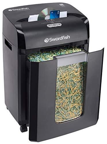 Swordfish 40363 Plus 20 vel geslepen papier/documentvernietiger met continu versnipperen 2400xCD Zwart