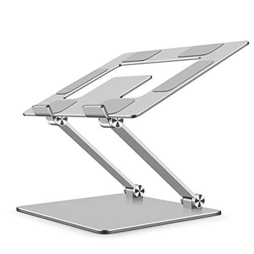 Soporte para computadora portátil Soporte de aluminio extraíble para computadora portátil Elevador ajustable de múltiples ángulos para computadora portátil (10-18 pulgadas) con almohadilla de silico