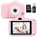 Kids Camera, Digital Cameras,Camera for Kids with 3.5 Inches Screen 8.0MP 1080P HD Camera for kids, USB Rechargeable Toy Camera for Children 2-10 Year Old Birthday Christmas New Year Gift (Pink) - Best Reviews Guide