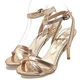 Sandalias De Tacón Fino Para Mujer Zapatos De Tacón Alto De Verano Zapatos De Tacón Abierto Con Espalda Abierta Fiesta De Carrera Boda Señoras De Tobillo Correa De Hebilla Bombas