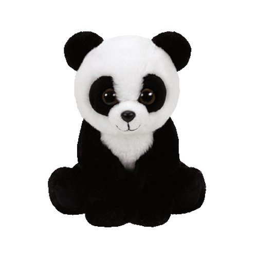 Ty 41204–Baboo–Panda pluschtier, Beanie Babies, 15cm