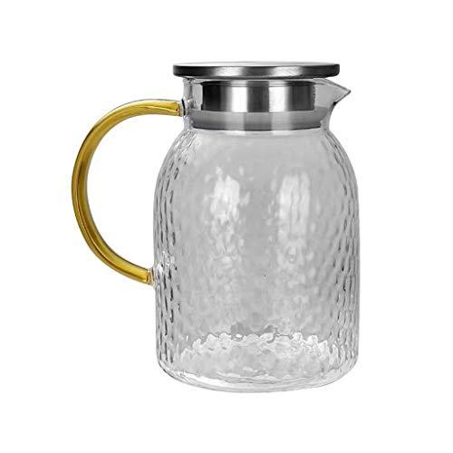 WxberG Juego de tetera de cristal, 1500 ml, tetera con filtro extraíble de acero inoxidable para suelto, té de flores, tetera de vidrio borosilicato para estufa segura